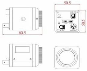 CCD显微镜摄像头产品尺寸图