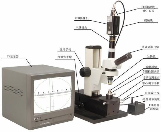 偏心检测仪的结构图和各部份名称